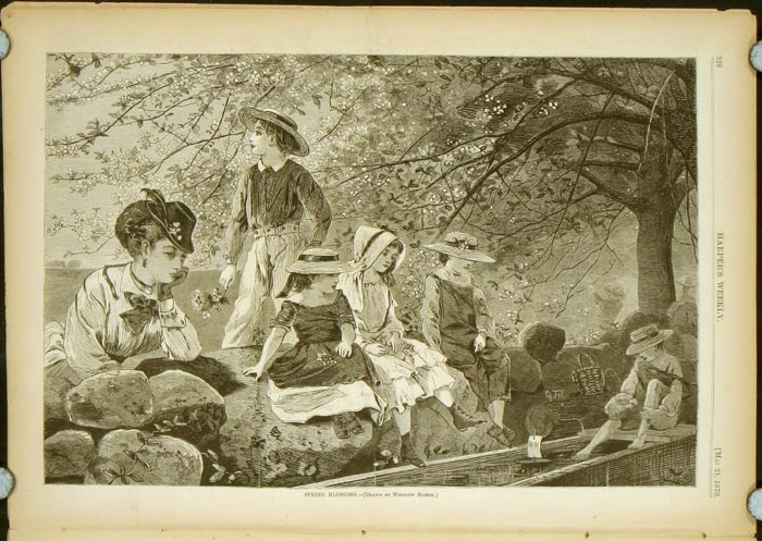 Harper's Weekly. COMPLETE ISSUE, Front cover illustration: A Spring Scene Near Richmond, Virginia. WINSLOW / VIRGINIA HOMER.
