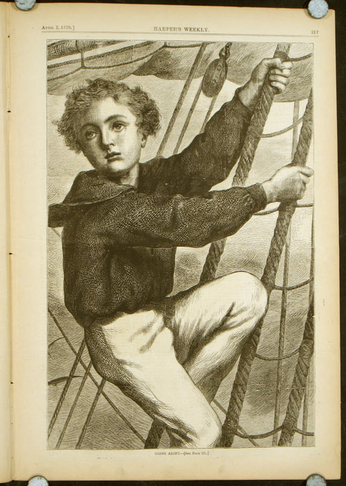 Harper's Weekly. COMPLETE ISSUE, Front cover illustration: In the Sepulchre. BOY SAILOR.