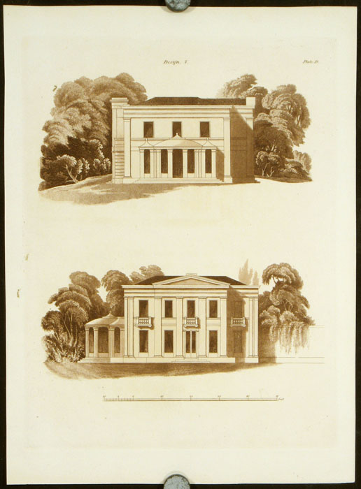 Design 7. [Villa in the Grecian Style]. BRITISH ARCHITECTURE - REGENCY, Francis Goodwin.