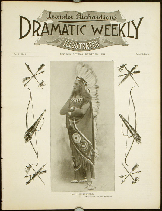Leander Richardsons Illustrated Dramatic Weekly. THEATRE.