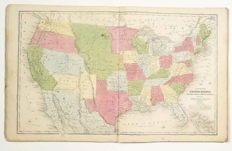 Olney's School Atlas. ATLAS - UNITED STATES, WORLD - 1853.