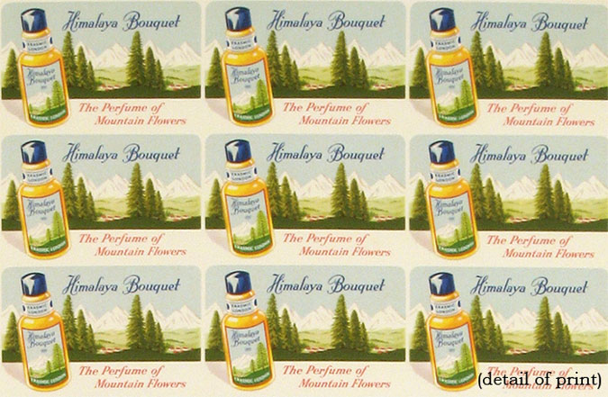 Himalaya Bouquet. The Perfume of Mountain Flowers. ADVERTISING POSTER.