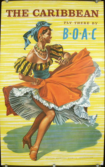 The Caribbean. Fly There by B.O.A.C. British Overseas Airways Corporation. B O. A. C.- CARIBBEAN.