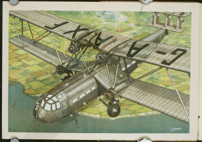 Handley-Page Type 42 Airplane. AIR-LINER FOLD-OUT, G. H. Davis.