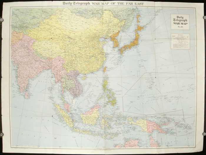 The Daily Telegraph War Map of the Far East. Daily Telegraph War Map No. 11. ASIA.