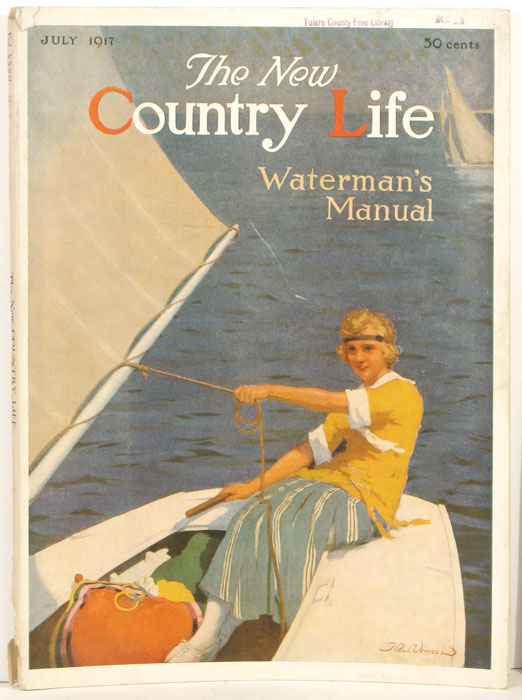 The New Country Life. 1917, July. Waterman's Manual Number. SAILING / ARCHITECTURE / INTERIOR DESIGN.