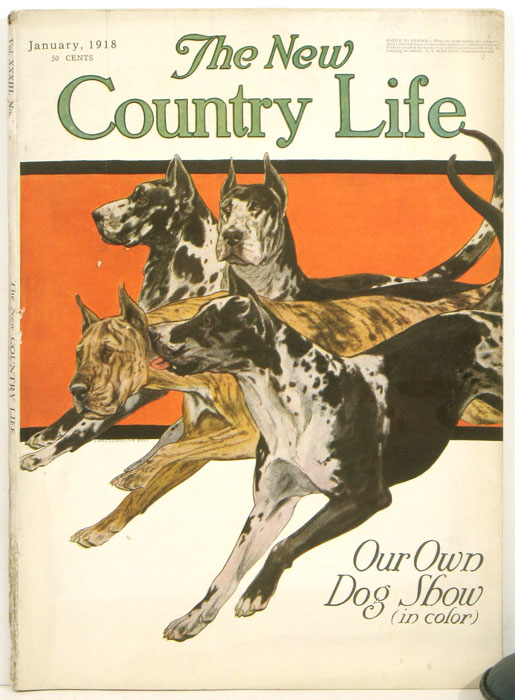 The New Country Life. 1918, January. COUNTRY LIFE - ARCHITECTURE / DOGS.