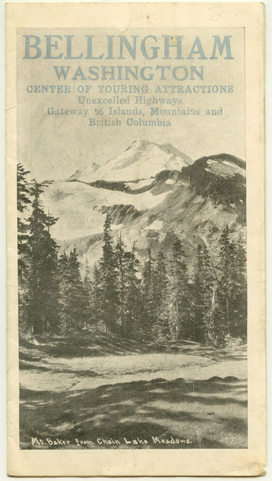 Bellingham Washington Center of Tour Attractions Unexcelled Highways Gateway to Islands, Mountains and British Columbia. WASHINGTON - BELLINGHAM / BOOSTER PAMPHLET.