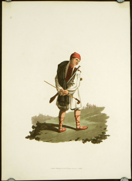 Arnaut Soldier. COSTUME - MILITARY - TURKEY / OTTOMAN EMPIRE.