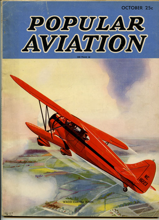 Popular Aviation. 1936 - 10 (October). AIRPLANES, B. G. Davis.