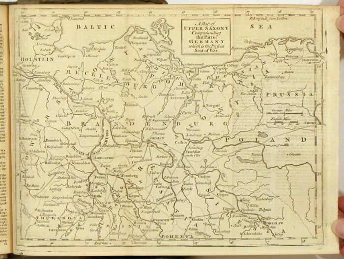 Gentleman's Magazine and Historical Chronicle (January to December. 1757). David Henry, CHINESE MUSIC, FRANCE MAPS OF THE BALTICS, GERMANY.