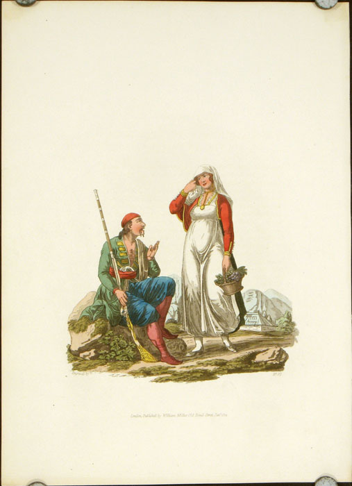 A Man and Woman of Risano, in the Country of Cattaro. AUSTRIA - RISANO.