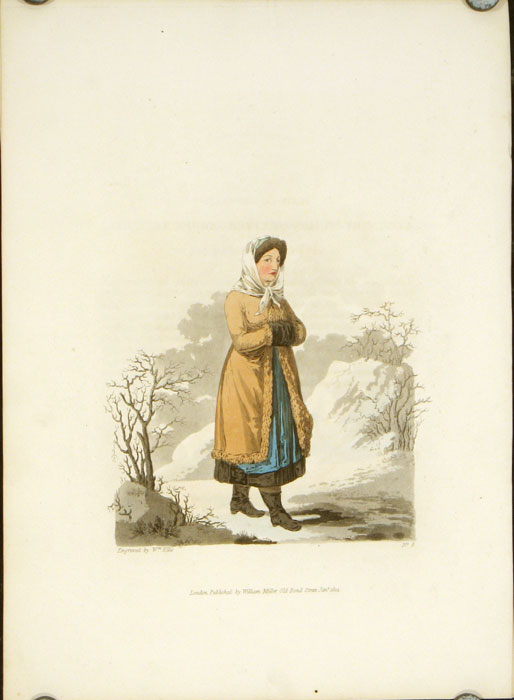 A Countrywoman of Upper Carniola in her Winter Dress. AUSTRIA - CARNIOLA.