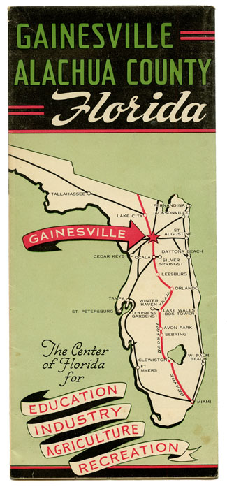 Gainesville Alachua County Florida. The Center of Florida for Education Industry Agriculture Recreation. FLORIDA.