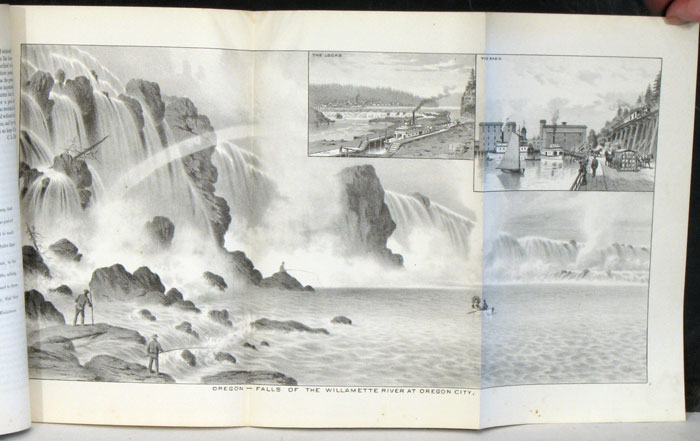 """The West Shore August, 1887 COMPLETE WITH FOLDOUT PANORAMA """"Oregon - Falls of the Willamette River at Oregon City."""" OREGON - OREGON CITY."""