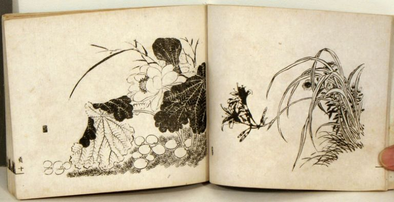 Kokin meijin gakō. (古今名人画稿 Sketches by famous people of all time). Four odd volumes of reproductions of Chinese paintings. CHINESE PAINTING.