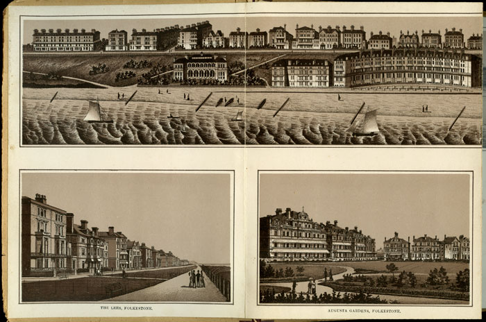 Folkestone, Sandgate and Hythe. ENGLAND / VICTORIAN VIEW BOOK.