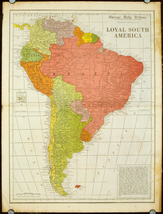 Chicago America Map.Loyal South America Published In The Chicago Daily Tribune