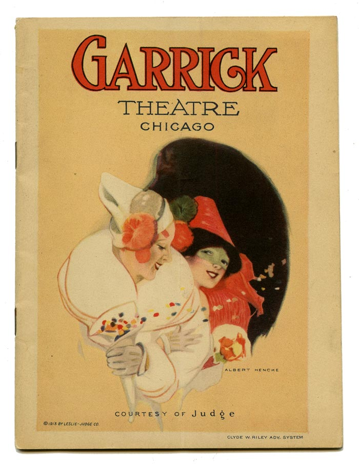 """Garrick Theatre Chicago: """"The Whirl of the World"""" with Texas Guinan. VINTAGE THEATRE PROGRAM, Harold Atteridge, Dialogue and Lyrics."""