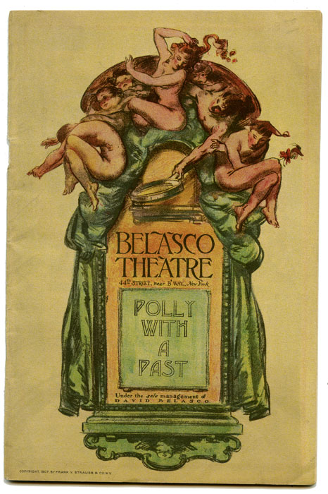 Belasco Theatre: Polly With A Past. Ina Claire. VINTAGE THEATRE PROGRAM, G. Middleton, Guy Bolton.