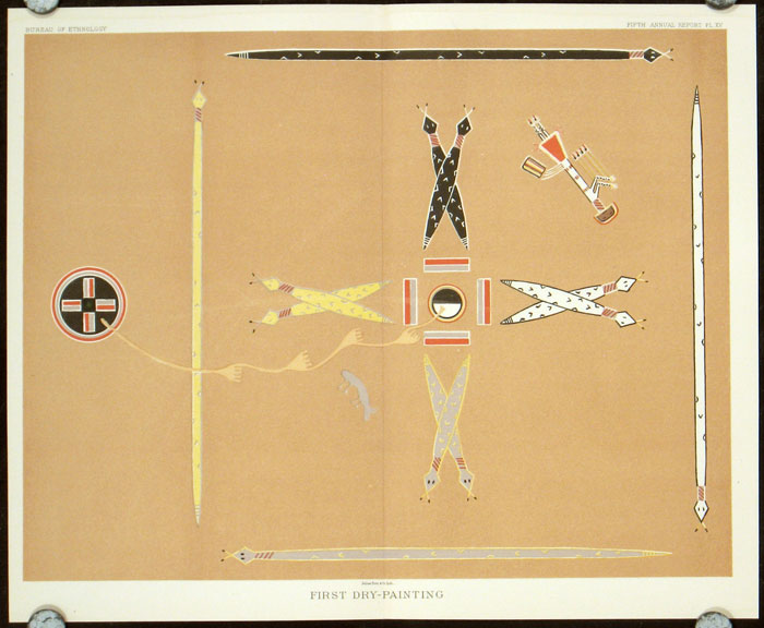 The Mountain Chant: A Navajo Ceremony. FOUR COLOR PLATES. NAVAJO INDIANS.