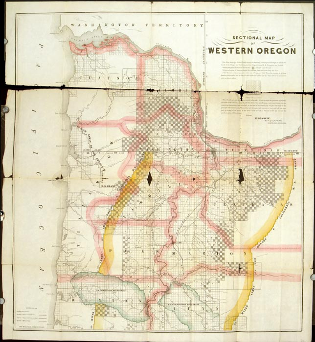 Sectional Map of Western Oregon | OREGON - LAND SALES