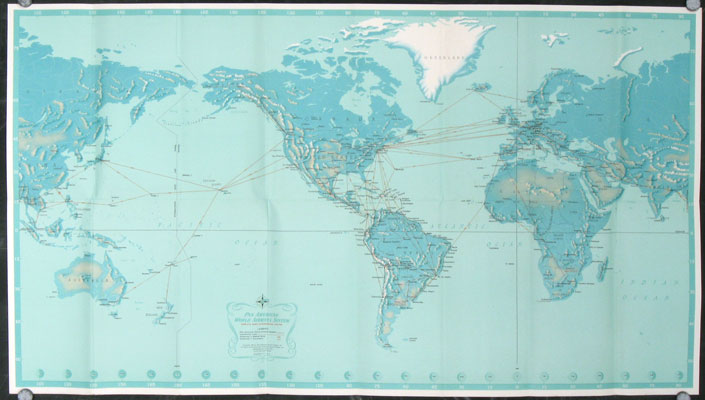 Destinations Unlimited. Find Them on the Full-Color World Map Inside. WORLD - PAN AMERICAN AIRLINES.