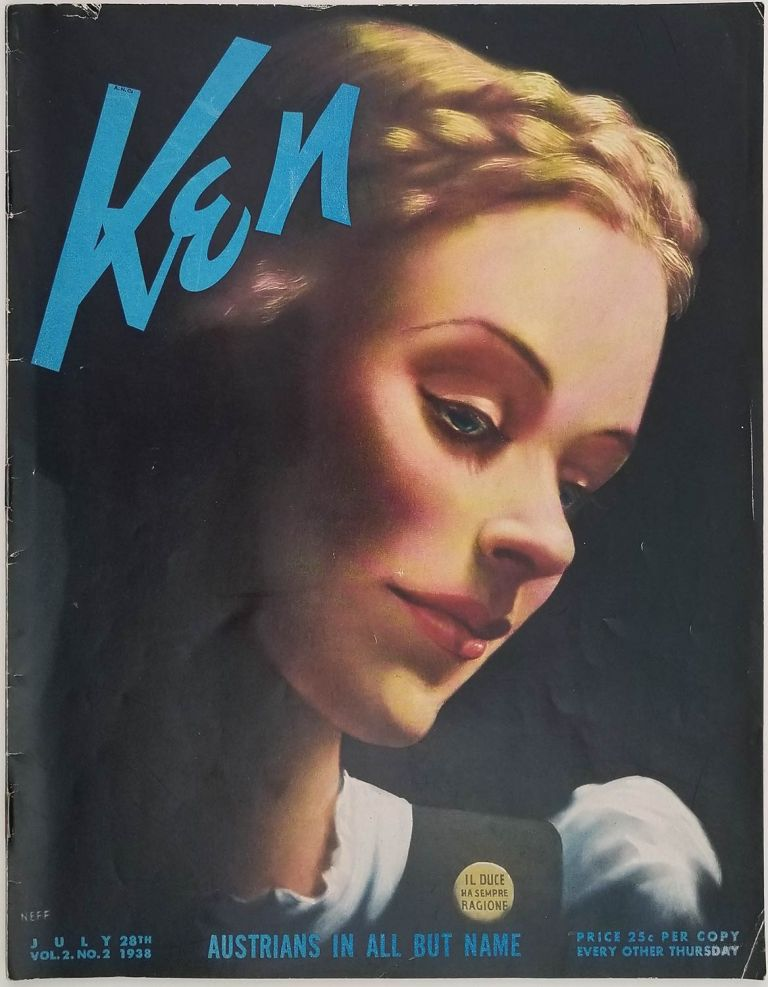 Ken. The Insider's World. 1938 - 07 - 28. July 28th, 1938. VOLUME 2, NUMBER 2. CHINA / SPAIN /WORLD WAR II, Ernest Hemingway.