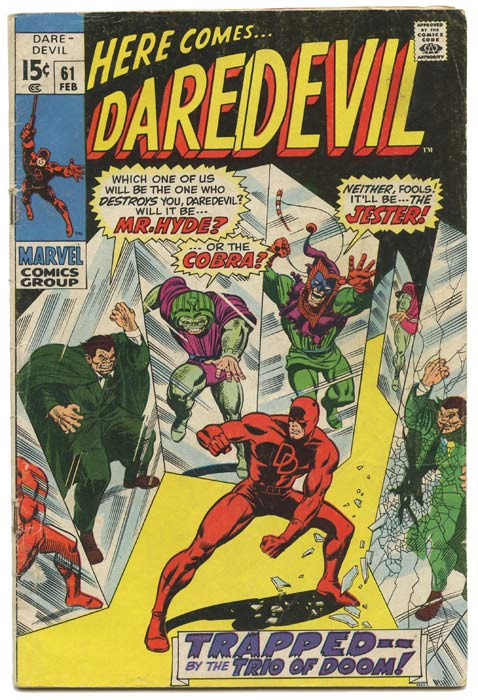 Here Comes Daredevil (the Man Without Fear!). SCHWARZENEGGER ADVERTISEMENT, Stan Lee.