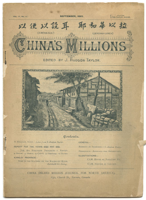 China's Millions. September and October 1892