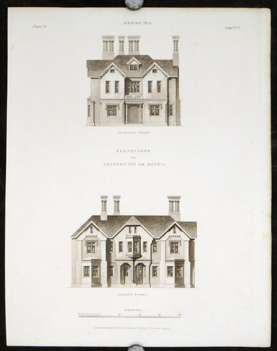 Design 5. [Country Inn or Hotel]. BRITISH ARCHITECTURE - REGENCY, Francis Goodwin.