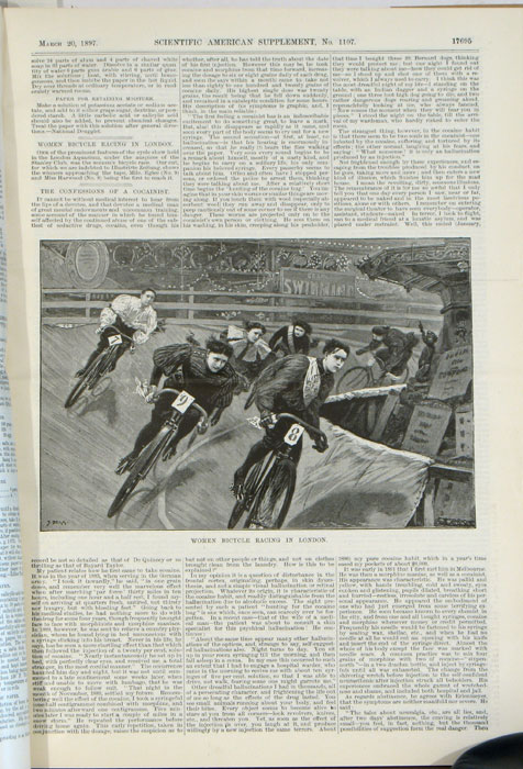 Scientific American Supplement. BOUND VOLUME. January 2, 1897 through November 20, 1897. ETC CYCLING / WASHINGTON STATE / POLAR EXPEDITION / HORSELESS CARRIAGE / TRANS-SIBERIAN RAILROAD / BLACKWALL TUNNEL.