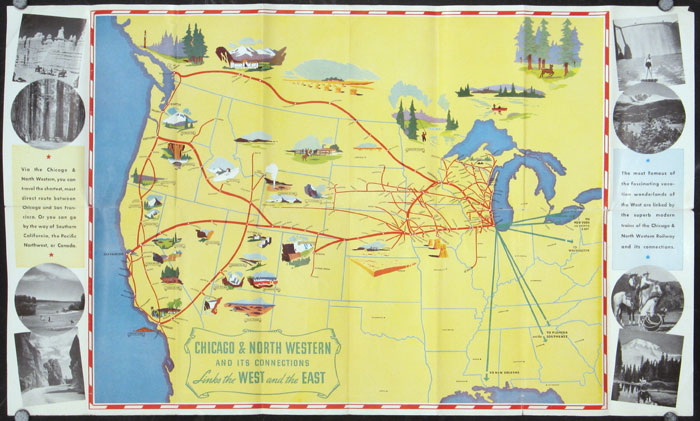 A Memory of the San Francisco World's Fair Presented with the Compliments of the Chicago & North Western Ry. (Map title: Chicago & North Western and its Connections Links the West and the East.). CALIFORNIA - SAN FRANCISCO / WORLD'S FAIRS.