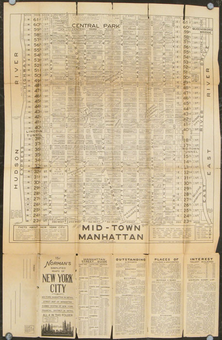 Street Map Of Manhattan New York.Norman S Simplified Maps Of New York City Mid Town Manhattan In Detail Street Map Of Manhattan Subway System Of New York Financial District In
