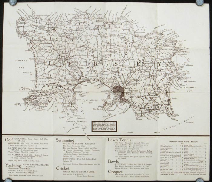 Map of Jersey. JERSEY.