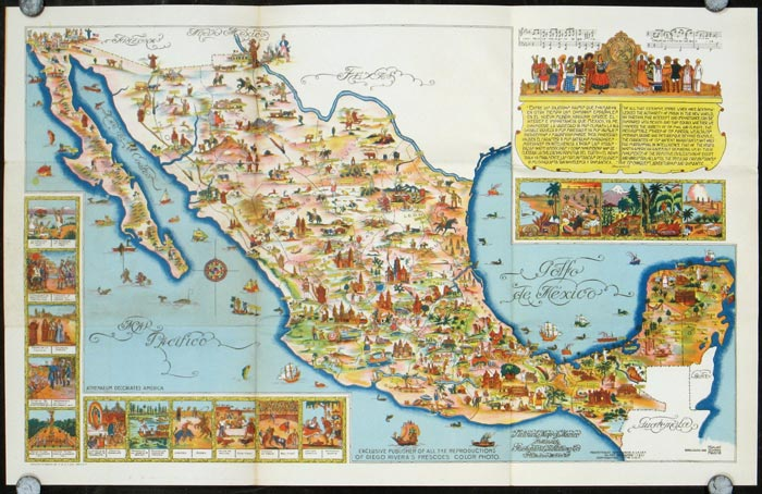 Pictorial Map of Mexico. MEXICO.