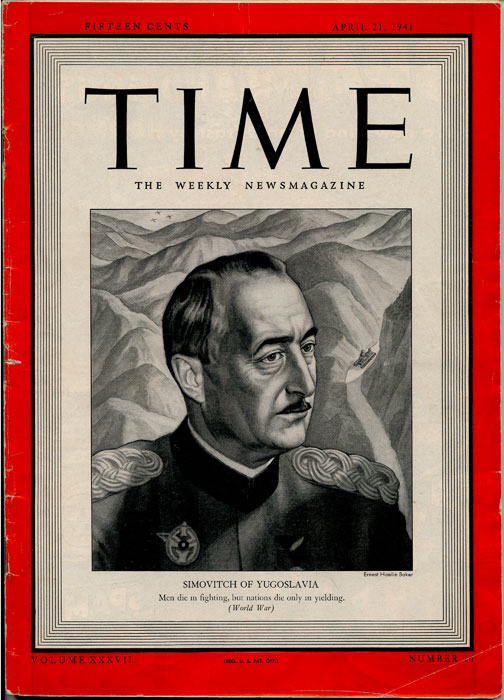 Time The Weekly Newsmagazine. 1941 - 04 - 21. WORLD WAR TWO.
