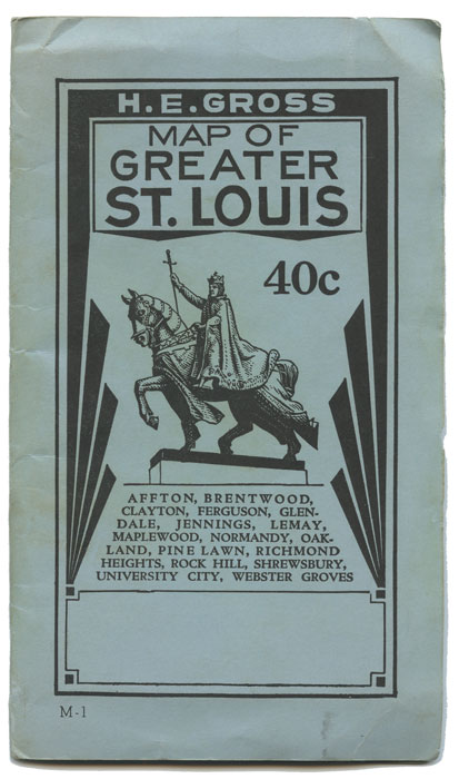 Map of Greater St. Louis Afton...Webster Groves. MISSOURI - ST. LOUIS.