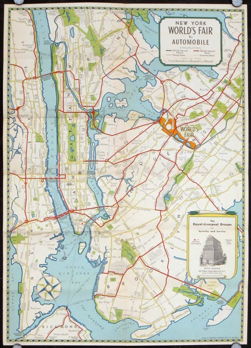 A Map Of The World S Fair And New York City New York 1939