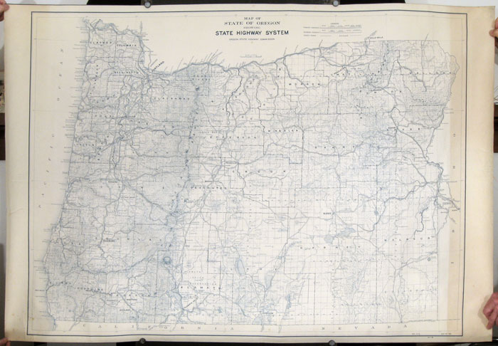 Map of State of Oregon Showing State Highway System. OREGON HIGHWAYS 1930s.