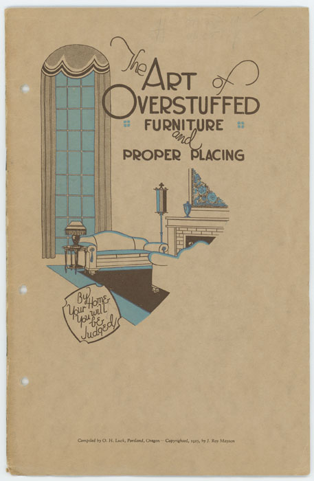The Art of Overstuffed Furniture and Proper Placement. FURNITURE - 1920S OVERSTUFFED.