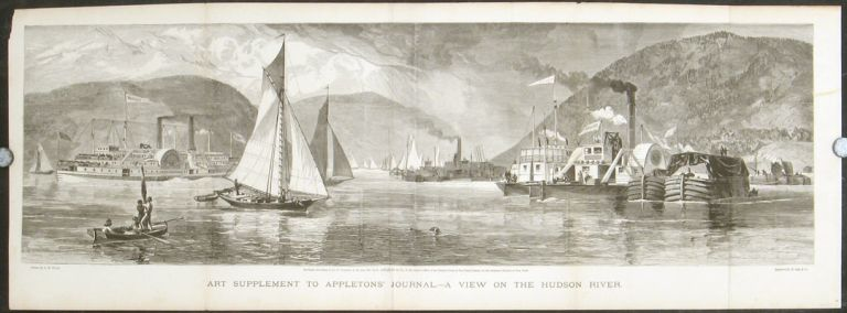 A View On the Hudson River. Art Supplement to Appletons' Journal. HORSE RACING - NEW YORK.