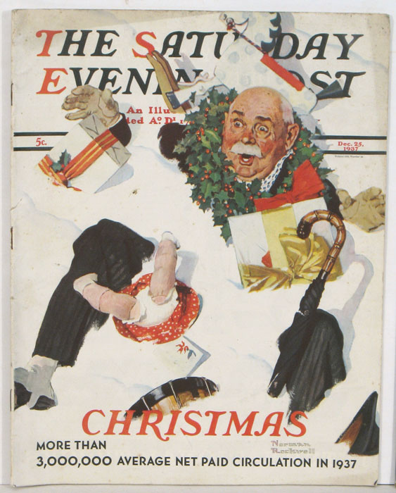 The Saturday Evening Post. 1937 - 12 - 25. [NORMAN ROCKWELL CHRISTMAS]. CHRISTMAS.