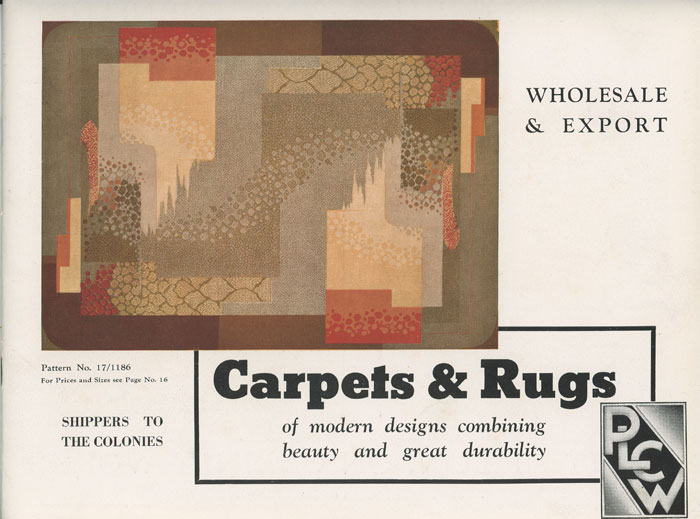 Carpets and Rugs. DECO RUGS, CARPETING - BRITISH.