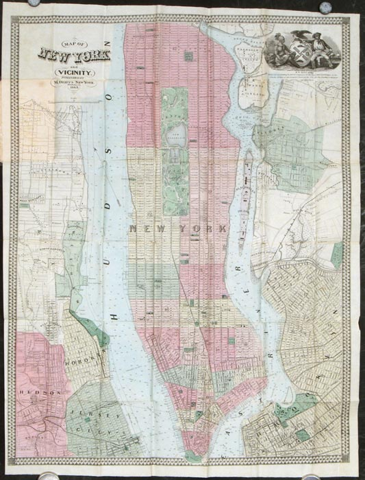 Map of New York and Vicinity. NEW YORK - NEW YORK CITY.
