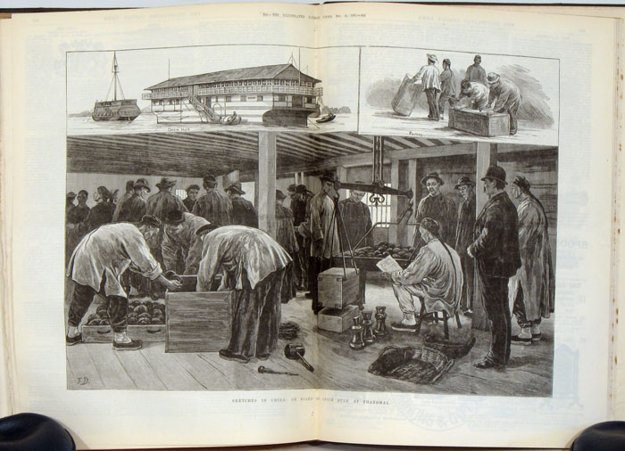 The Illustrated London News. July to December 1883. CHINESE SUBJECT MATTER etc.