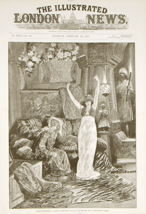 Sarah Bernhardt as Izeyl. ACTORS: SARAH BERNHARDT.