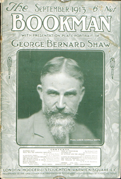 The Bookman. PORTRAIT: GEORGE BERNARD SHAW.