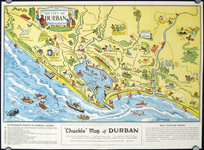 Durban South Africa Chuckle Map And Guide South Africa Durban