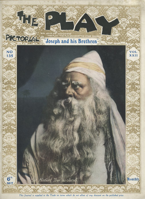 The Play Pictorial. DRAMA: JOSEPH AND HIS BRETHREN, Louis N. Parker.
